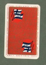 Vintage advertising playing cards. The Finland Line shipping